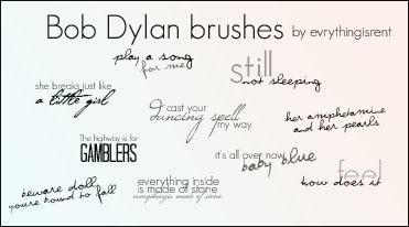 Bob Dylan brushes