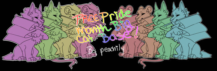 FREE pride Month lion bases !