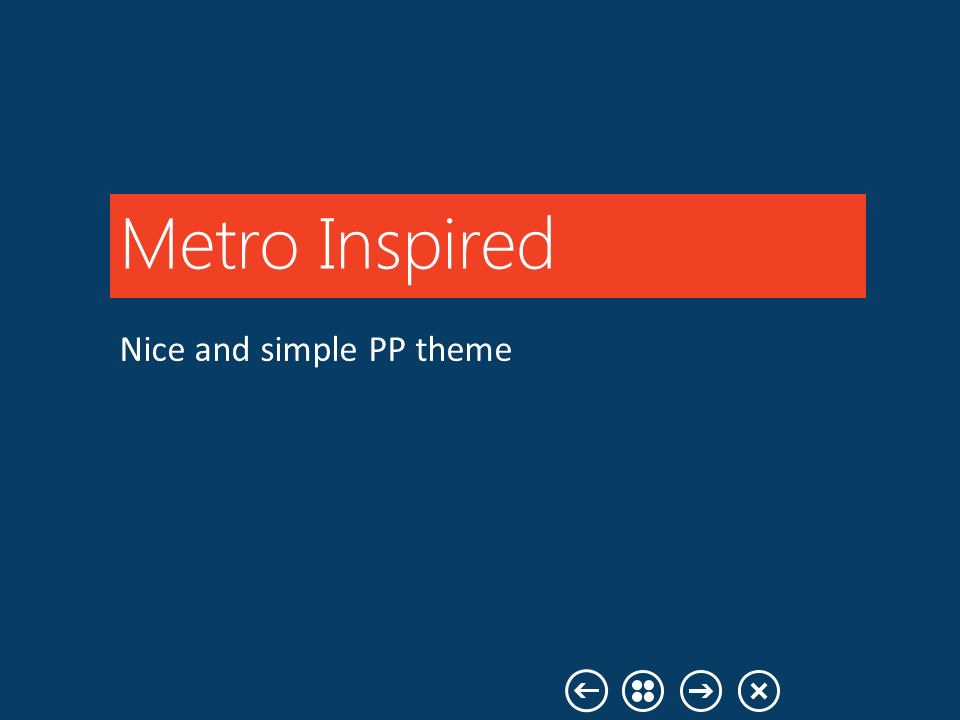 Metro inspired ppt template by orajo on deviantart metro inspired ppt template by orajo toneelgroepblik Image collections