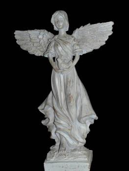 Pre-cut Angel Statue 002