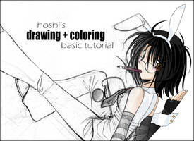 Drawing + Shading tutorial by hoshijin