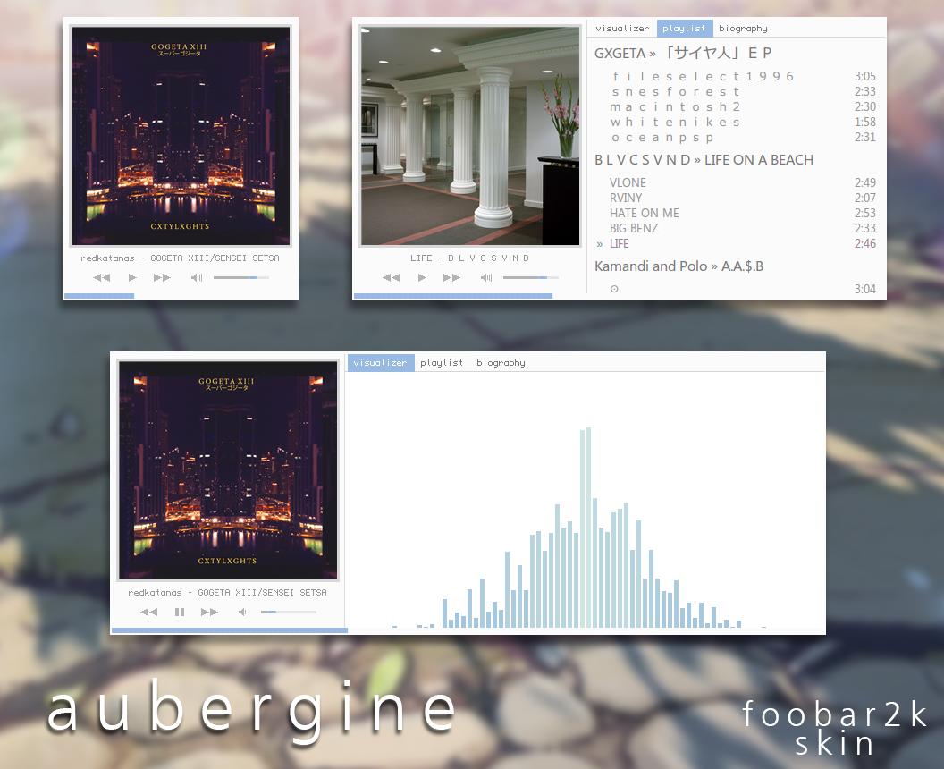 Aubergine (Foobar Skin) by noha-ra