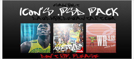 Usain Bolt icon's .psd pack