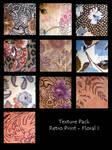 Texture Pack- Retro Floral I by rockgem