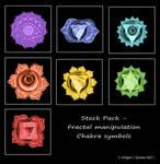 Fractal Stock - Chakra Symbols