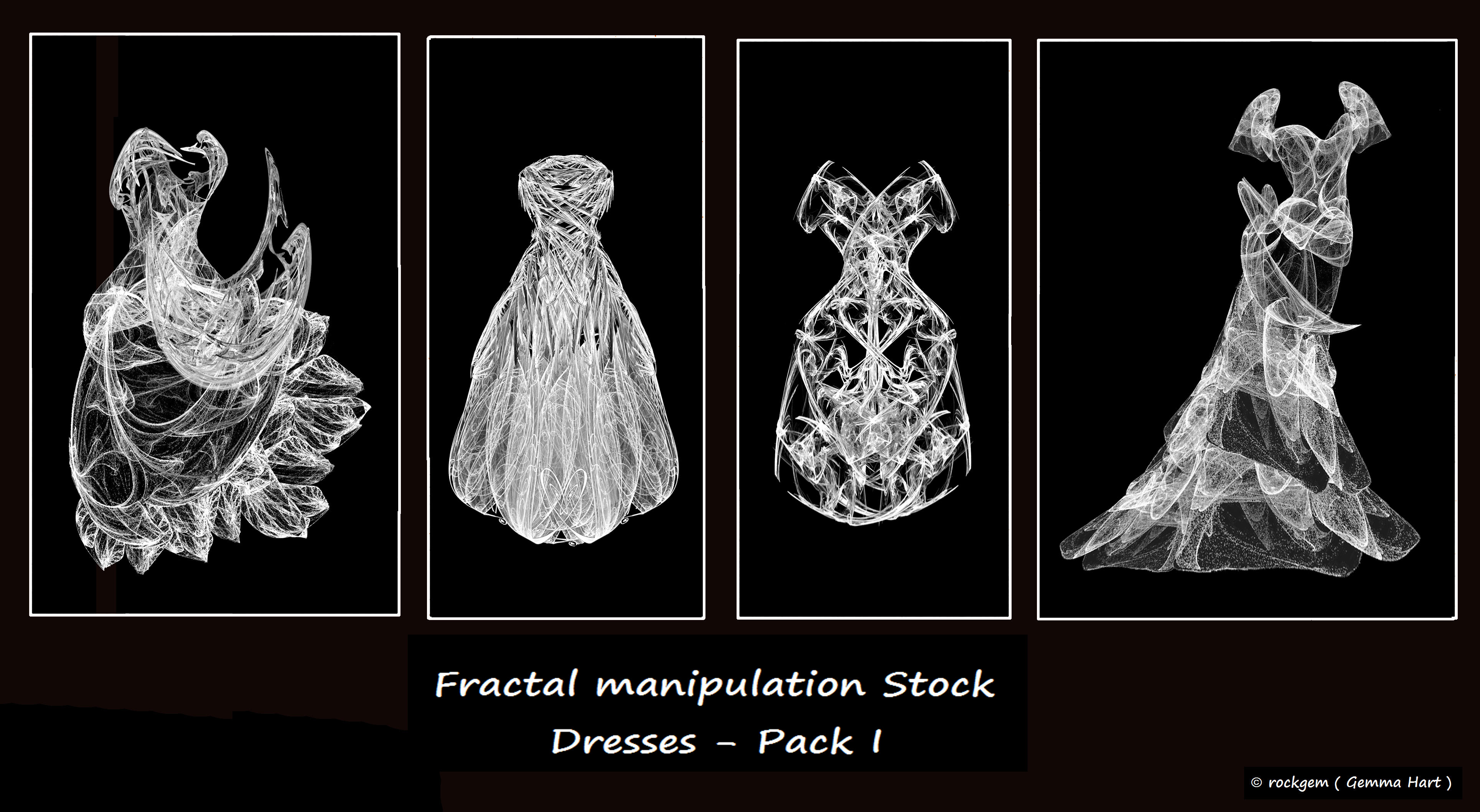 Fractal Stock - Dress Pack I by rockgem