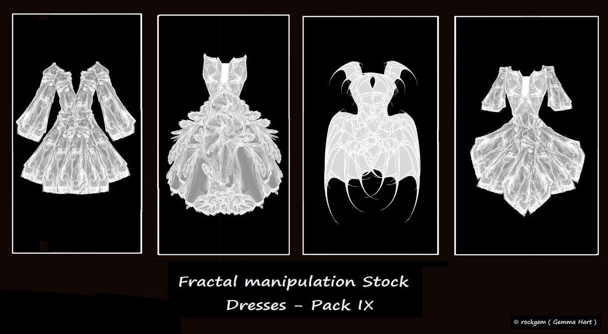 Fractal Stock- Dress Pack IX by rockgem