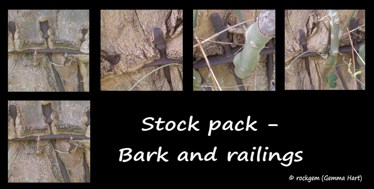 Stock Pack - Bark and railings by rockgem