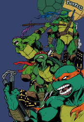 TNMT Turtle Power - Flats by Michael Angelo Arbon