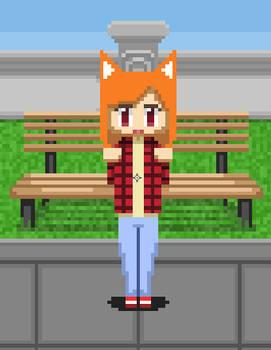 Jumping Fox girl (animated)