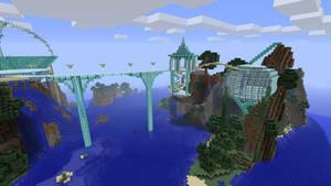 minecraft xbox elvish city by amiemo---1