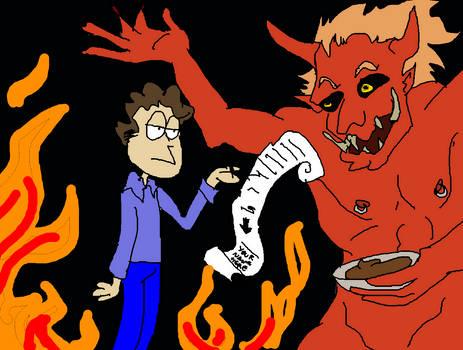 Jon Arbuckle Sells His Soul To Satan (for pudding)