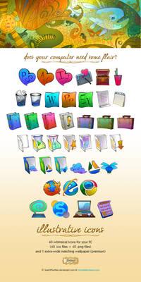 Illustrative Icons Set