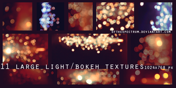 11 Large Bokeh/Light Textures by ofthespectrum