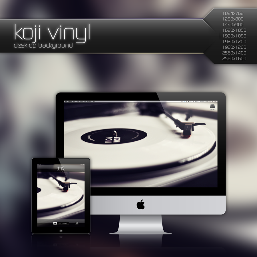 Koji Vinyl Desktop Background by Bonvallet