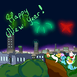 Happy New Year (animated) by Alyx-SKat