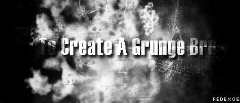 How To make a Grunge Brush by FedEx06