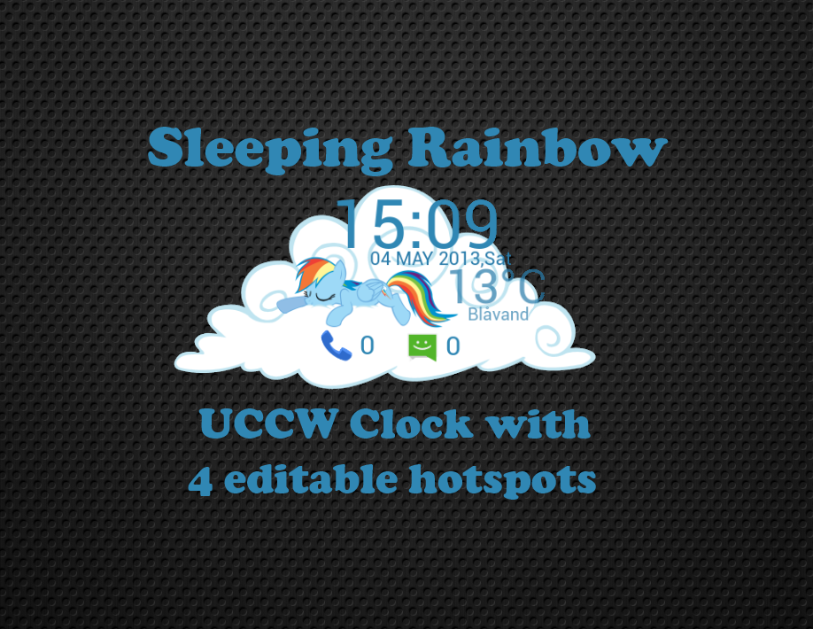 Sleeping Rainbow V1 UCCW clock by Drugoli
