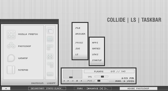 Collide Litestep Taskbar by Static-Slack