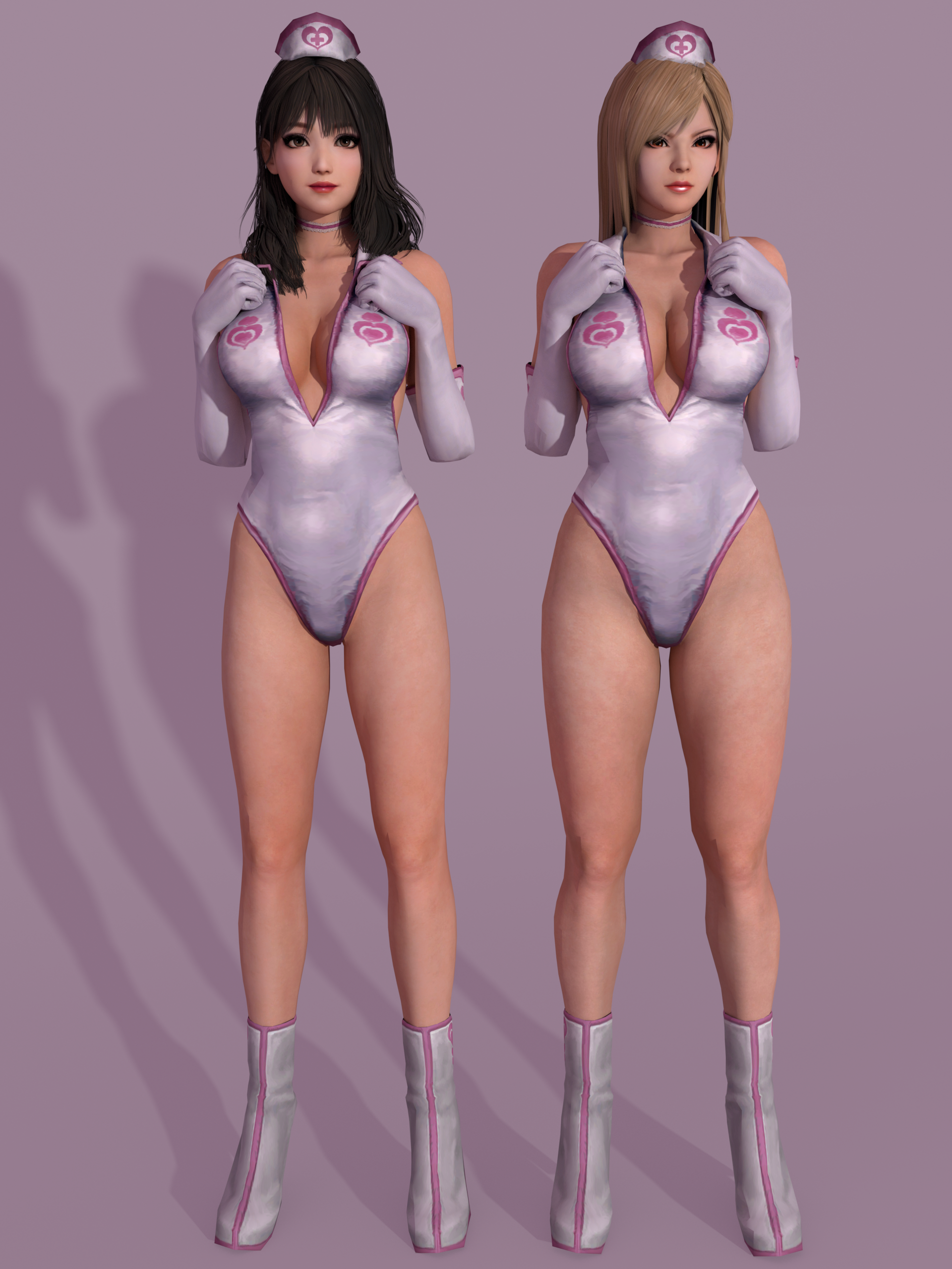 DOA5LR Naotora and Mai - Eileen Galvin Nurse [DL] by Shuubaru