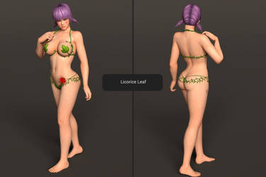 DOAXVV Ayane - Licorice Leaf [DL] by Shuubaru
