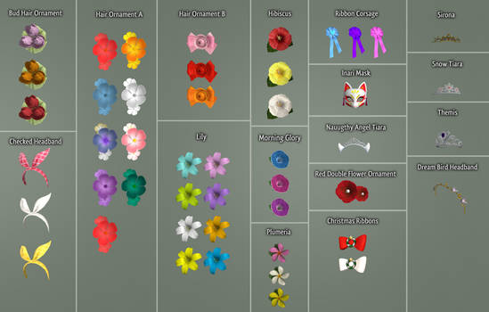 DOAXVV Accessories - Pack of Head Accessories [DL]