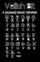 Veilish Alphabet (Bit variation) by StrudelCupboard