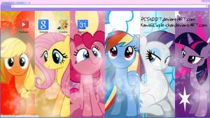 Mane 6 Google Chrome Theme by bubblehun