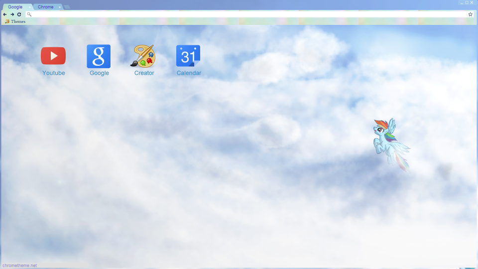 Dash into the Clouds Google Chrome Theme by bubblehun
