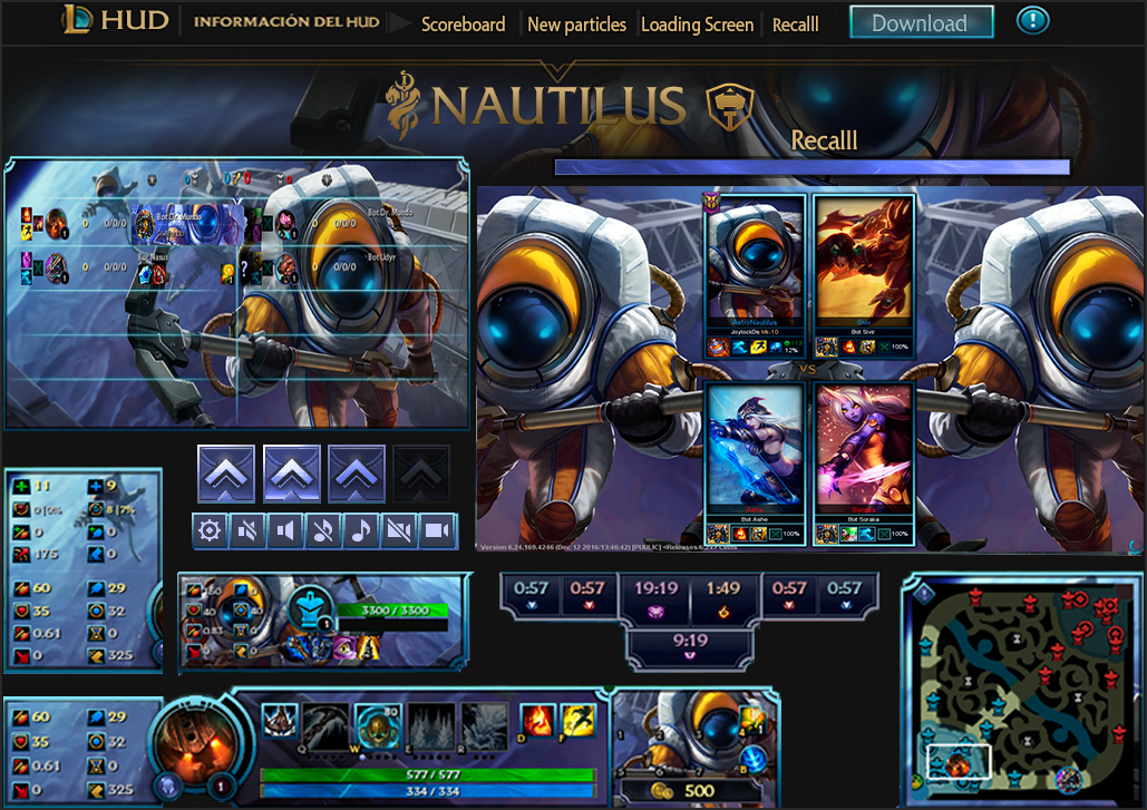 League Of Legends Hud Hud Astro Nautilus By Joylockdesigner On