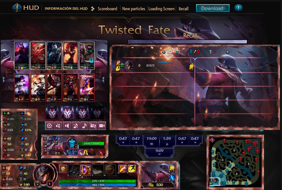League Of Legends Hud Blood Moon Twisted Fate By Joylockdesigner