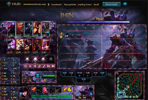 League Of Legends Hud Blood Moon Jhin by JoylockDesigner