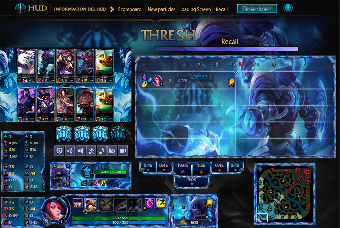League Of Legends Hud Championship Thresh By