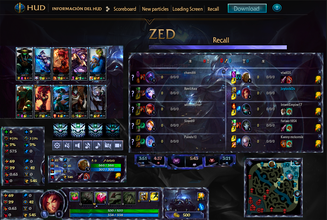 League Of Legends Hud Championship Zed By JoylockDesigner