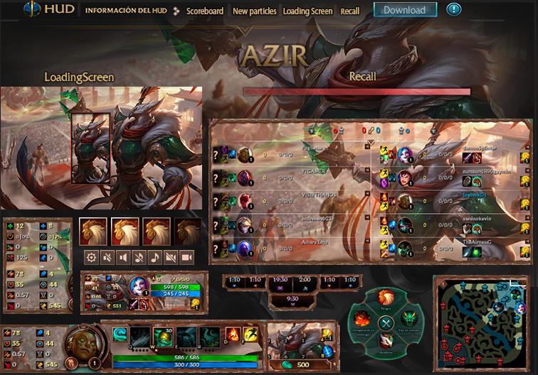League Of Legends Hud Azir Warring Kingdoms by JoylockDesigner