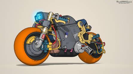 Cyberpunk bike by Red888guns