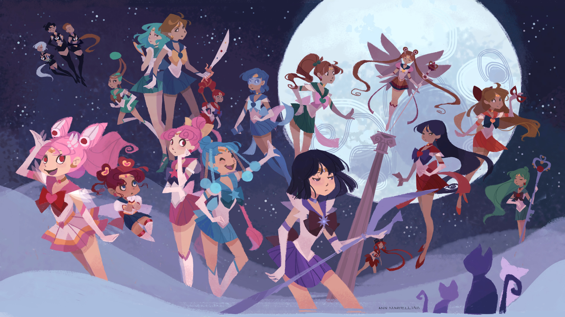 sailor moon wallpaper fanart - photo #33