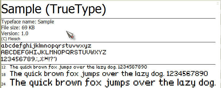 Sample font by fleisch2