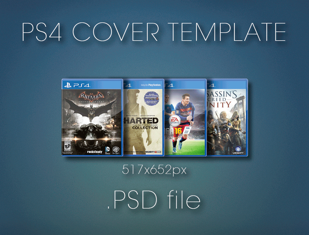 ps4 cover template by kakashi4489 on deviantart