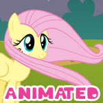 [Animation] Fluttershy's hair blowing by Veemonsito