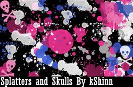 Splatters and Skulls BrushPack by kShinn
