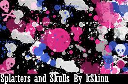 Splatters and Skulls BrushPack
