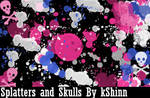 Splatters and Skulls BrushPack