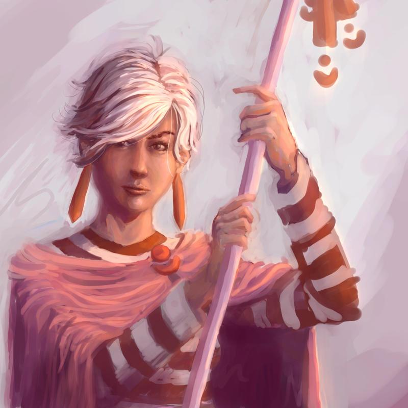 The white hair girl, again by c-a-s
