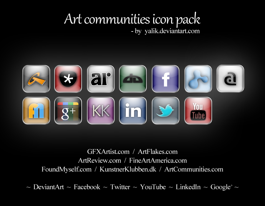 Art Communities Icon Pack