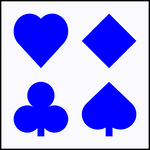 Vector French Card Suit Symbols