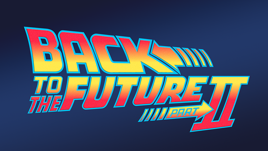 back to the future part ii vector logo (1989)imleerobson on