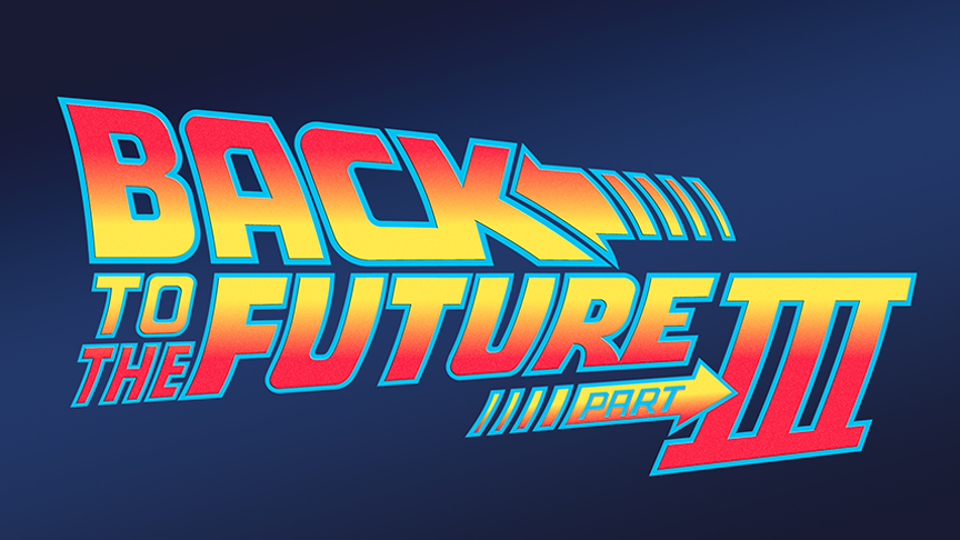 Back To The Future Part III Vector Logo (1990) by imLeeRobson on