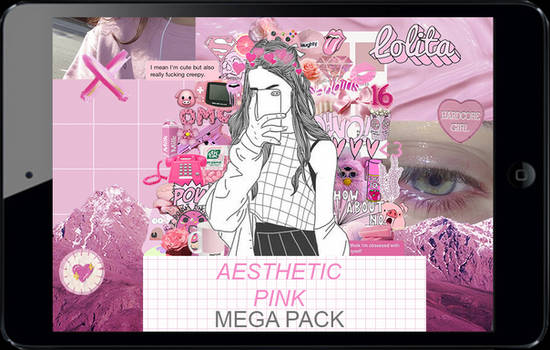 Aesthetic pink mega pack