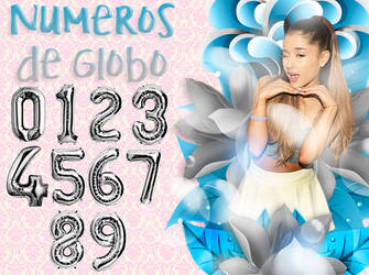 Numeros de globo png by GoddessSellyGomez